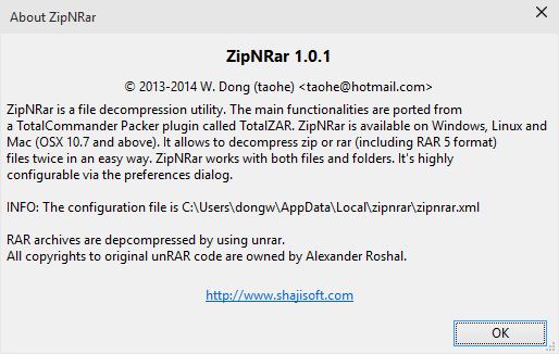 ZipNRar - Unzip and unrar Files on Windows, Mac and Linux - Shajisoft